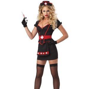 Spirit cardiac arrest nurse woman's Halloween Med